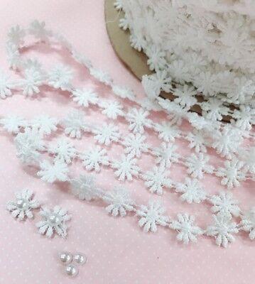 6 12 Wide 14 12 Yards Pretty Pink Daisy Cutwork Embroidery Lace Trim
