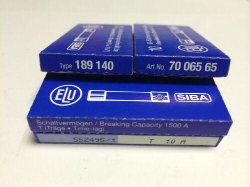 SIBA Fuse Antisurge 10A 7006565  T10A 500V typ 189140 JPSF058