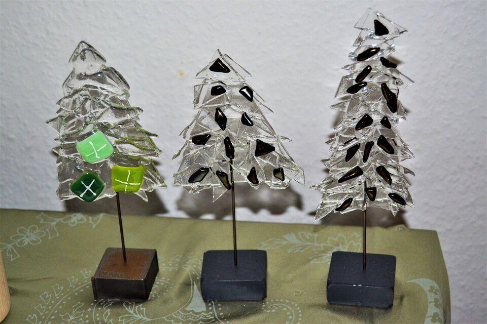 juletræer, glaskunst