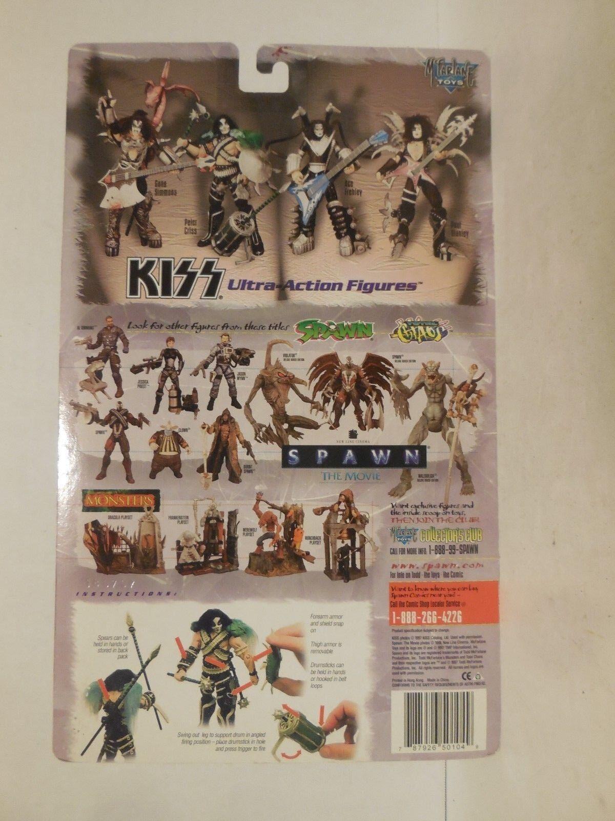 Kiss Ultra-Action Figures, McFarlane Set Toys, Complete Set McFarlane Ace Gene Peter Paul, NOS bdd956