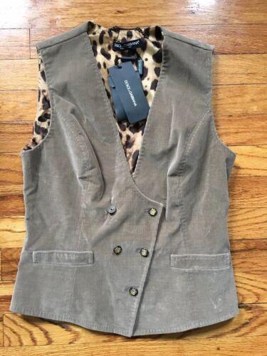 Vest Size Cord Corduroy Gabbana amp; 42 Brown Dolce qwgAOC