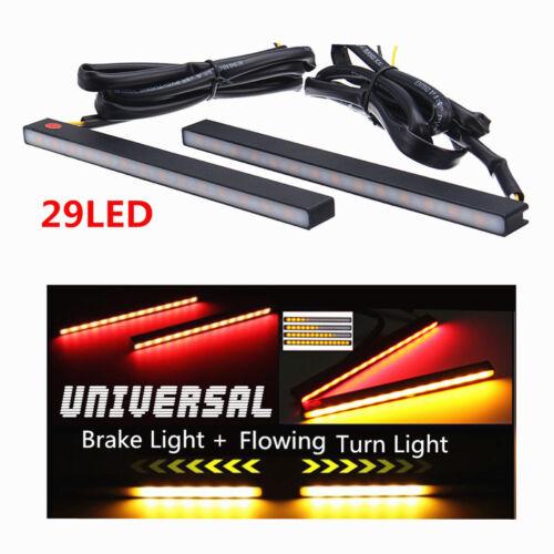 Flowing Car DRL LED Strip 29 LED Brake Stop Light DRL Turn Signal Lamp 2PCS