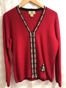 Woolrich-Womens-Zippered-Sweater-Size-S