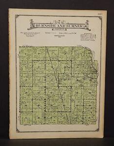 Sumner Iowa Map.Iowa Webster County Map Burnside Sumner Township 1923 W13 94