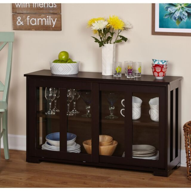 Dining Idea Room Storage: Glass Front Cabinet Stackable Kitchen Dining Room China