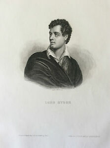 Lord-Byron-Poet-British-Engraving-1863-Great-Britain