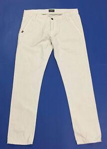 two-2-man-jeans-uomo-W34-tg-48-denim-chiaro-grigio-skinny-boy-usato-slim-T2504