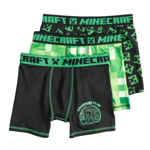 NWT SEALED Minecraft Creeper Boy/'s Gamer Green Boxer Briefs Underwear Sz 6-12