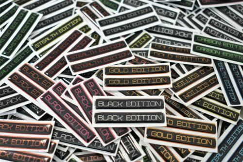 Limited Edition Domed Stickers Choose Colour 45mm Wide High Gloss Gel Finish