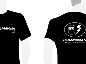 Plazmaman-Logo-Shirt-Black-white-Small