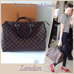b4fda576825 Image is loading LOUIS-VUITTON-SPEEDY-35-DAMIER-EBENE-HANDBAG
