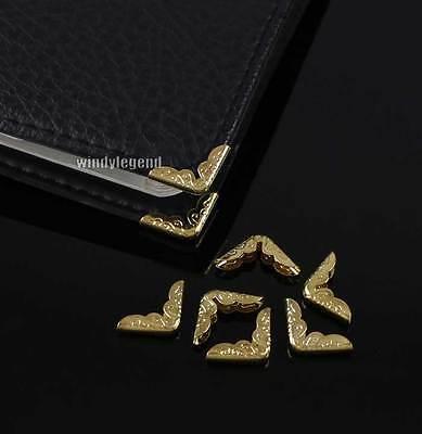 50 X Metal Gold Book Corner Protectors For Scrapbooking File Folder Albums Craft