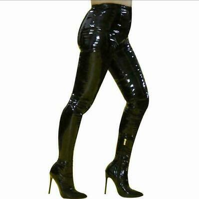 Sexy Womens Leather Pants Boots Pointy