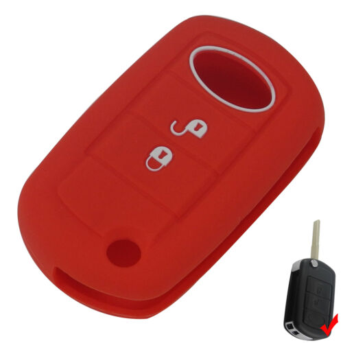 Red Silicone key cover case for LAND ROVER Range Rover Sport LR3 Discovery