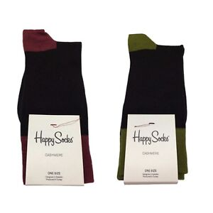 HAPPY SOCKS Mens Socks Short 30%Cashmere 50%Viscose 17%Polyamide Size 41-46