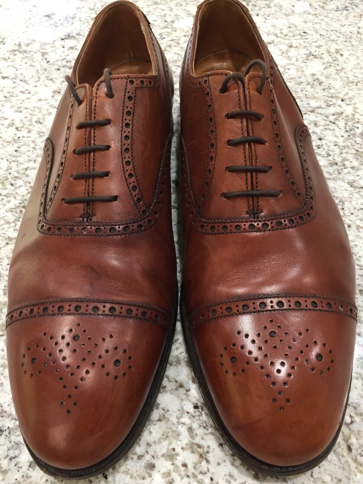 Crockett Jones Berkeley Brogue Puntera Marrón Oxford 13 D 14 D Reino Unido nos Excelente