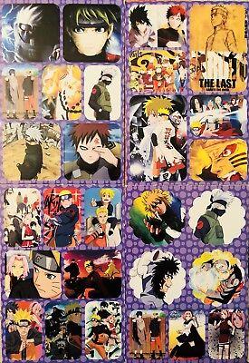 Japanese Anime NARUTO #E Shippuden Sasuke Kakashi Sakura 4 Sticker Sheets