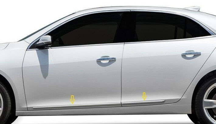 4PC ABS CHROME BODY SIDE MOLDINGS FITS 2010-2016 CHEVROLET EQUINOX