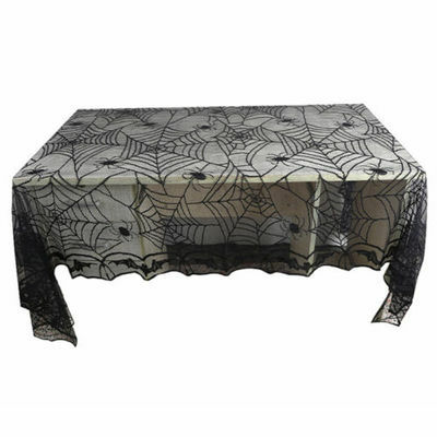 Halloween Lace Spider Web Table Cover Tablecloth Rectangle Party Bar Decor AU