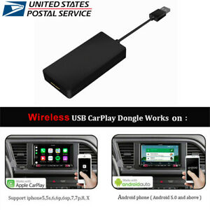 Wireless USB Smart Link Apple Carplay Dongle For Android Car DVD Radio Player-US