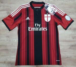 desbloquear Impedir Clásico  AC Milan Jersey Shirt adidas 100% Original M 2014/2015 Home Kit NEW | eBay