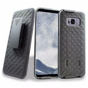 HARD-SHELL-COMBO-CASE-KICK-STAND-SWIVEL-BELT-CLIP-HOLSTER-T3T-for-Galaxy-S8-Plus