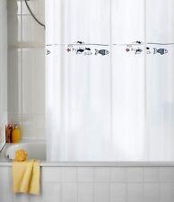 Duschvorhang Sanwood Fische 180 x 200 cm. Hochwertig Fisch - Fish Shower Curtain
