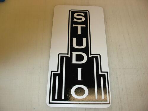 STUDIO Metal Sign Theater Bar Vintage Style Retro Art Deco Movie Room