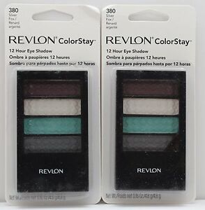 2PK-REVLON-COLORSTAY-12-HOUR-EYE-SHADOW-380-SILVER-FOX-0-16-OZ-SEALED