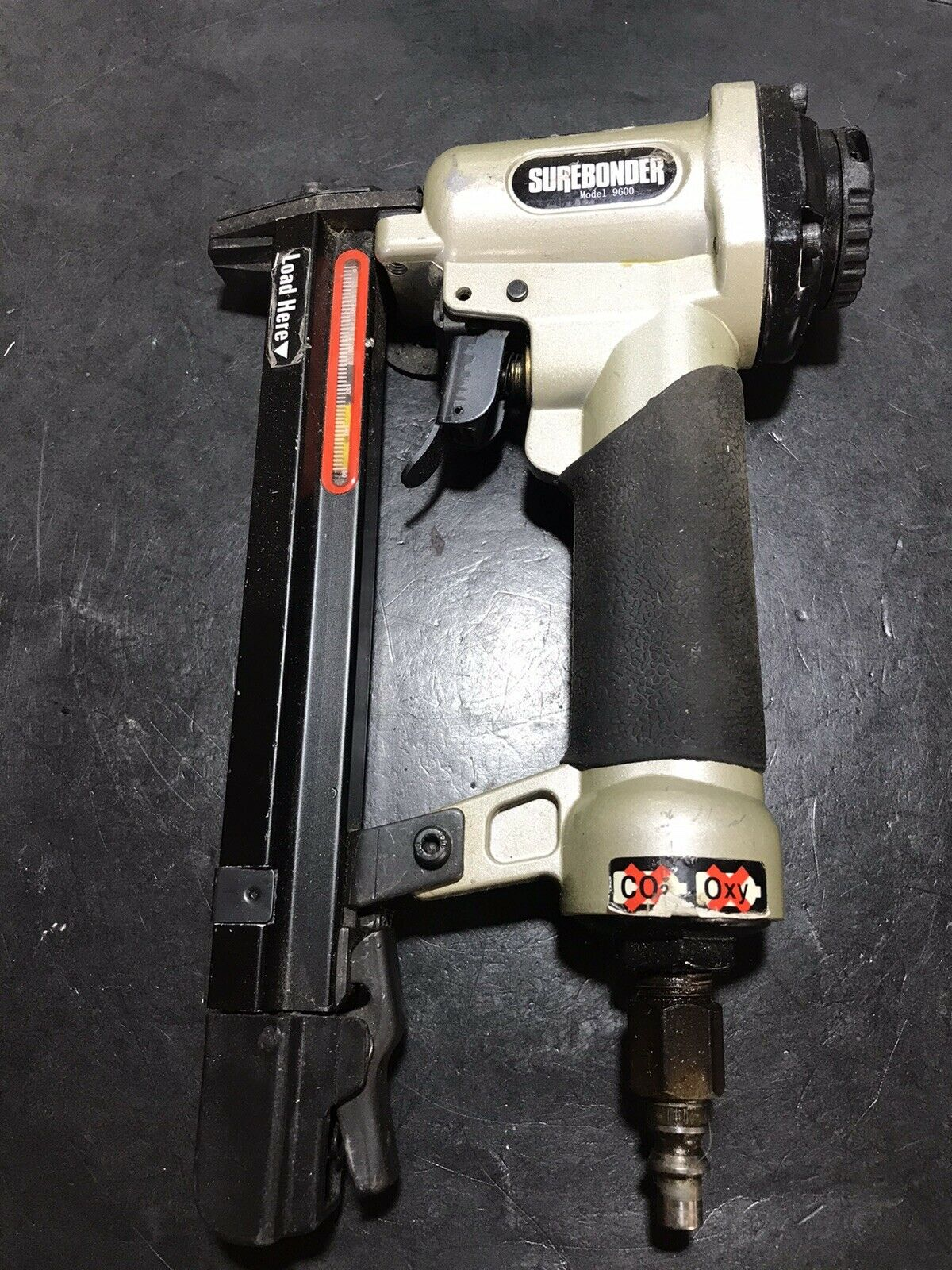 SUREBONDER Model 9600 Pneumatic Stapler Tested Functions Properly Used. Available Now for 25.95