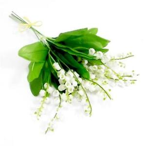Image Is Loading Lily Of The Valley 6 Plastic Artificial Flowers