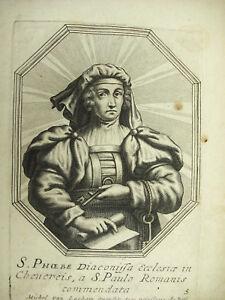 HonnêTe Sainte Phœbé De Cenchrée Michiel Van Lochom Xviie à La Duchesse D'aiguillon 1639 Beau Travail