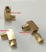 Fitting Metric M10X1 Male to Compression 4mm OD Tube 90 Deg Elbow Brass L-8D
