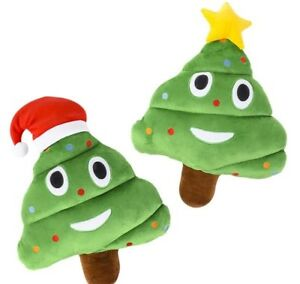 Christmas Tree Emoji.Details About Cp You Get 1 12 Emoji Christmas Tree Emoticon Poop Pillow Style Will Vary F