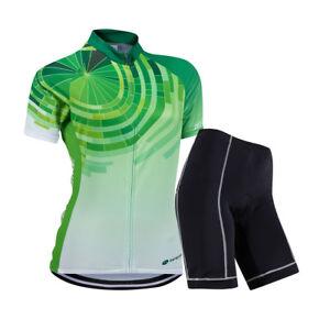 ZEROBIKE Herren Atmungsaktiv Sport Jersey Fahrradtrikot /& Radhosen Kurzarm Grün