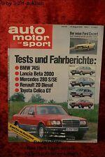 AMS Auto Motor Sport 18/80 BMW 745i Lancia Beta 2000 Toyota Celica GT