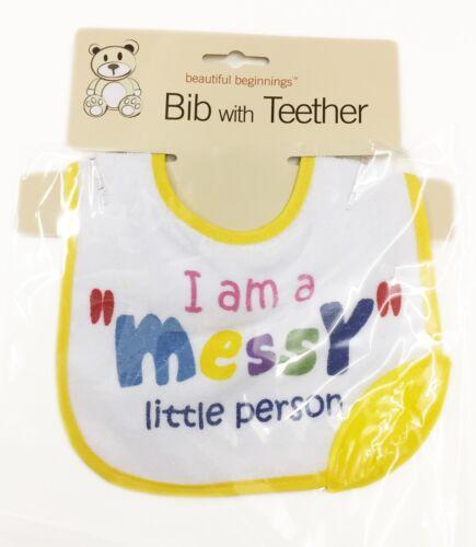 Baby Bib With Teether Hygienic Food Wipe Clean Brand New Child Kids Catcher