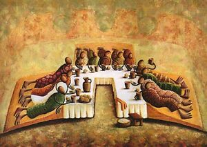 African American Black Art Print The Lords Last Supper By