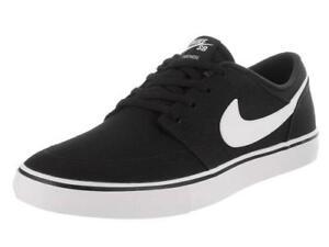 2ef8314cedf Nike SB Portmore Solarsoft Black+White Men s Sneakers Skateboard ...