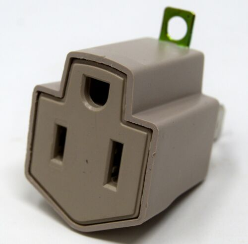 Convert 3 Prong to 2 Prong AC Wall Outlet Cord End Adapter Polarized  2 Pack