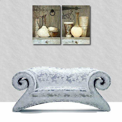 Arnie Fisk Artisan Collection I Wedge Frame Picture Canvas Cottage Shabby Chic