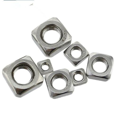 Square Nuts A2-70 304 Stainless Steel DIN557 M3 M4 M5 M6 M8 M10