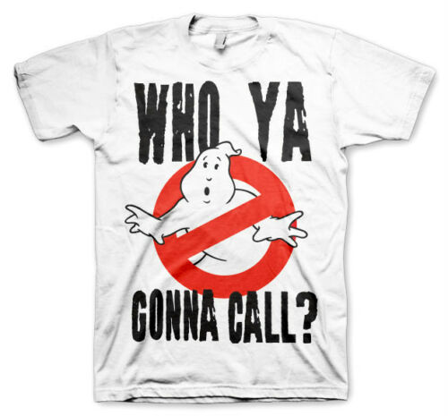 GHOSTBUSTERS Who You Gonna Call  T-Shirt camiseta cotton officially licensed