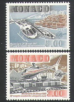 Monaco 1990 Helicopters/Aircraft/Aviation/Transport/Flight 2v set (n34344)