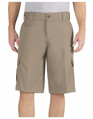 "Dickies Men/'s Desert Sand FLEX 13/"" Relaxed Fit Cargo Short Uniform WR557"