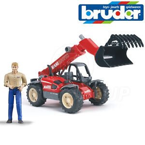 Bruder Toys 02125 Pro Series Manitou Telescopic Loader Toy Driver