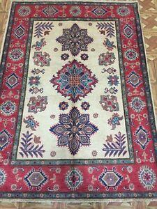 Kazak-Oriental-Hand-Knotted-4-039-x-6-039-Caucasian-Mountains-Weavers-Royal-Rug