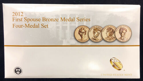 2012 First Spouse Bronze Medal Set Four Medals in Original Mint Packaging