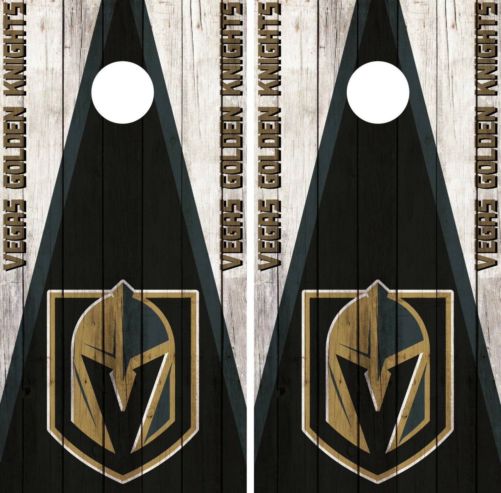 Vegas golden Knights Cornhole Wrap NHL Wood Game Skin Set Vinyl Decal CO220