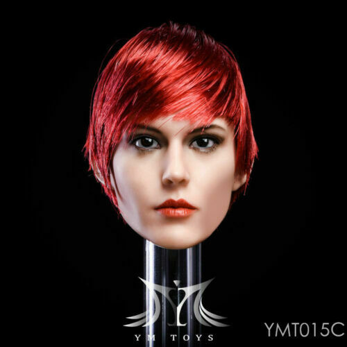 YMTOYS YMT015C 1//6 Short Red Wine Hair Beauty Girl Head Sculpt F 12/'/' Figure Toy